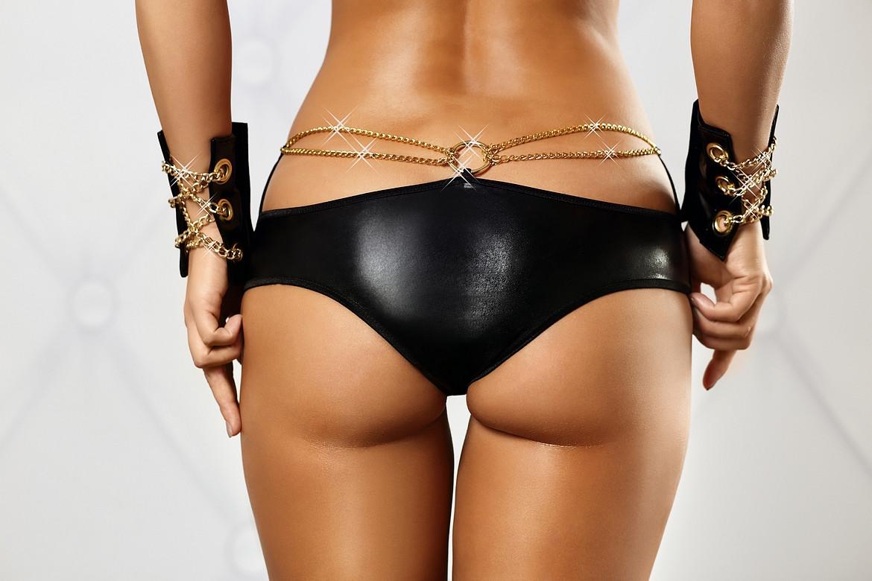 Сексуальные шортики под кожу с цепочками Chain shorts Lolitta