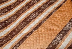 Покрывало плед полоска коричневый, фото 2