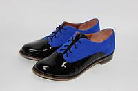 Женская кожаная обувь от производителя. Закрытые туфли на низком ходу
