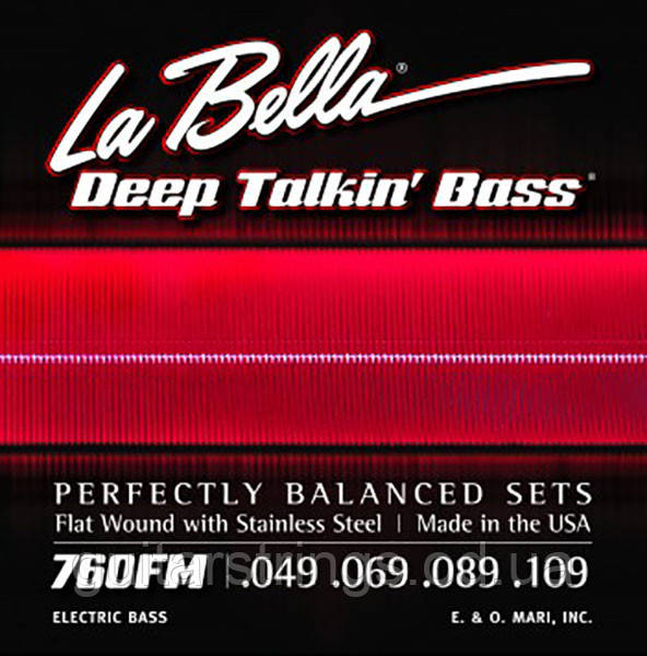 Струны La Bella Flat Wound Bass 760FM Medium 49-109
