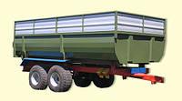 Тракторный самосвальный прицеп ТСП-10 с односторонней разгрузкой к тракторам МТЗ-82 грузоподъемность 8 т , фото 1