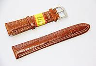 Ремінець шкіряний Modeno Spain для наручних годинників, коричневий, 20 мм
