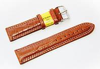 Ремешок кожаный Modeno Spain для наручных часов, коричневый, 22 мм