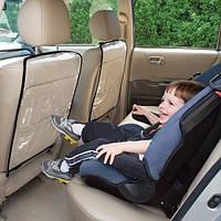 """Авточехол """"Авто-Кроха"""" - защита спинки сидения с ГОЛУБОЙ окантовкой"""