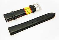 Ремешок кожаный Modeno Spain для наручных часов, черный, 20 мм