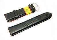 Ремешок кожаный Modeno Spain для наручных часов, черный, 24 мм
