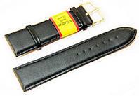 Ремешок кожаный Modeno Spain для наручных часов, черный, 26 мм