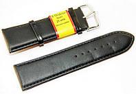 Ремешок кожаный Modeno Spain для наручных часов, черный, 28 мм