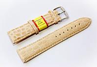 Ремешок кожаный Modeno Spain для наручных часов, бежевый (слоновая кость), 22 мм