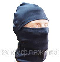 Маска - балаклава, шапка черная, фото 2