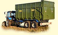 Тракторный прицеп ТСП-16 к тракторам Т-150, МТЗ 1210, ХТЗ, грузоподъемностью 12 т