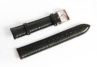 Ремешок кожаный Italian Classic для наручных часов, черный, 18 мм