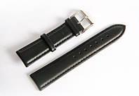 Ремешок кожаный Italian Classic для наручных часов, черный, 22 мм