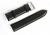Ремінець шкіряний Italian Classic для наручних годинників, чорний, 24 мм