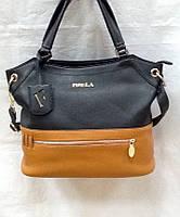 Женская сумка двухцветная экокожа