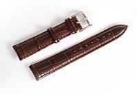 Ремінець шкіряний Italian Classic для наручних годинників, коричневий, 18 мм