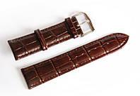 Ремінець шкіряний Italian Classic для наручних годинників, коричневий, 22 мм