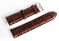 Ремешок кожаный Italian Classic для наручных часов, коричневый, 24 мм
