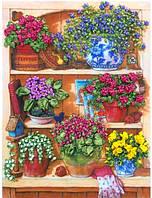 Набор для вышивания лентами Уголок садовника НЛ-3024