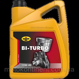 Моторное масло KROON OIL Bi-Turbo 15W-40 минеральное для бензиновых и дизельных моторов 5л KL00328