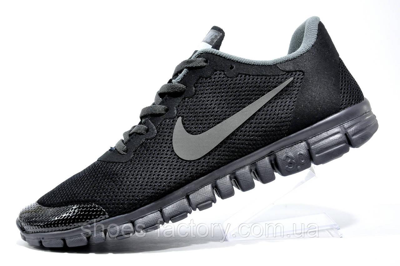 Кроссовки мужские в стиле Nike Free Run 3.0 V2, Black\Gray