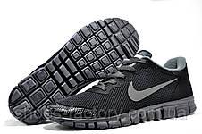 Кроссовки мужские в стиле Nike Free Run 3.0 V2, Black\Gray, фото 3