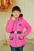 Детская весенняя куртка для  девочки  ''Замочки'', малина