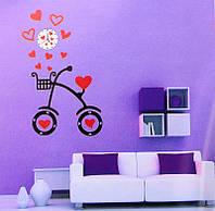 Объемные часы - наклейка Велосипед, фото 1