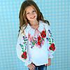 """Ексклюзивная вышиванка для девочки """"Бабушкина сказка"""" на рост 116-164 см"""
