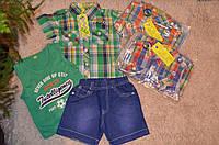 Летний комплект для мальчиков с джинсовыми шортами 12-36 месяцев