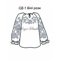 Сорочка для дівчинки №1 Білі рози