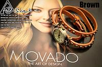 Женские кварцевые часы с кожаным ремешком коричневые,  часы женские официальный сайт