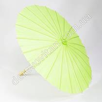 Китайский зонтик из бумаги, салатовый, d38 см