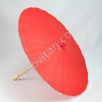 Китайский зонтик из бумаги, красный, d38 см