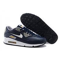 Кроссовки мужские Nike Air Max 90 Premium, кроссовки найк аир макс премиум 90, синие
