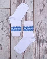 """Детские носочки """"Вышиванка"""" для малышей (синий орнамент)"""
