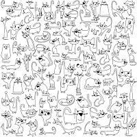 Обои-раскраски для детей Котики 60х60см, фото 1