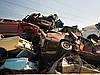 Превращение автомобилей в металлолом