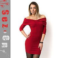 Платье женское вечернее с открытыми плечами 40-42 размер