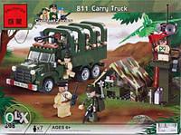 Конструктор brick 811 Военный грузовик 308 деталей