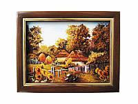 Картина из янтаря Деревня (Картины и иконы из янтаря)