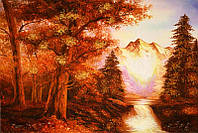 Картина из янтаря Таинственный лес (Картины и иконы из янтаря)