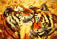 Картина из янтаря Тигры (Картины и иконы из янтаря)