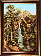 Картина из янтаря Горная река (Картины и иконы из янтаря)