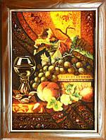 Картина из янтаря Натюрморт (Картины и иконы из янтаря)