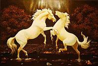 Картина из янтаря Лошади (Картины и иконы из янтаря)