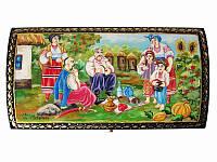 Шкатулка большая Казаки (Пир) (Другие виды росписи)