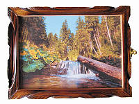 Картина-ключница Лес (Деревянные ключницы)