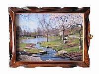 Картина-ключница Весна (Деревянные ключницы)