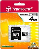 Карта памяти Transcend microSD 4GB class 4